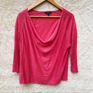 Eileen Fisher Pink Scoop Neck Light Weight Sweater